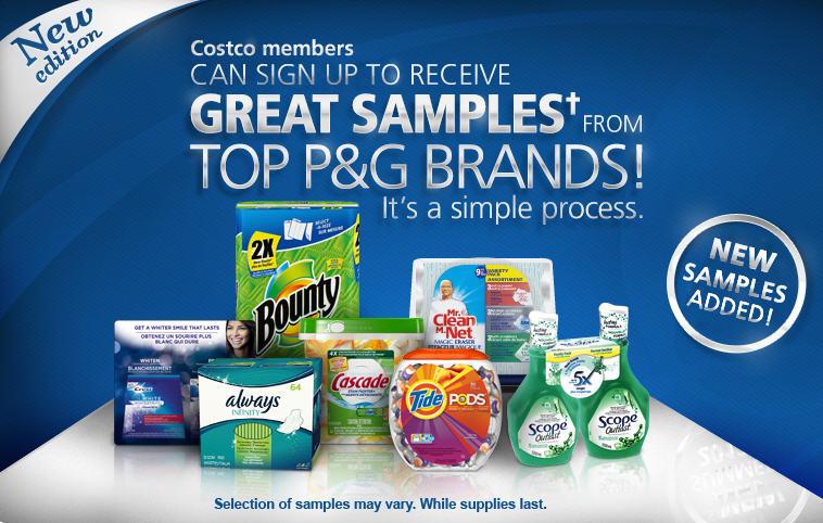 Costco P G Brandsampler Free Samples For Costco Members Toronto Deals Blog