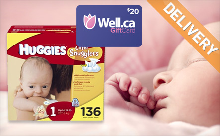 Box of Huggies Little Snugglers Size 1 or 2 Diapers