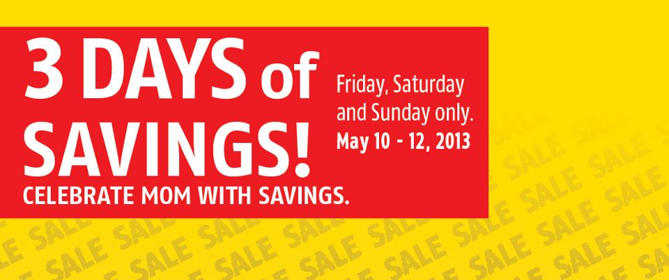 Future Shop 3 Days of Savings (May 10-12)