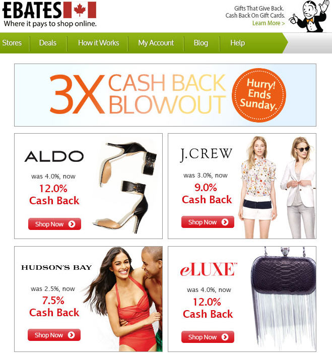 Get Cash Back Coupons And Deals On Hudsons Bay Online   Autos Post