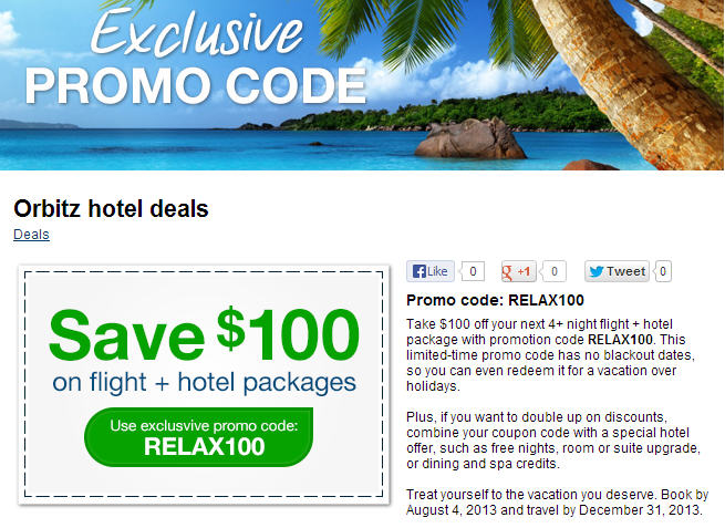 Hotel travel discount coupon