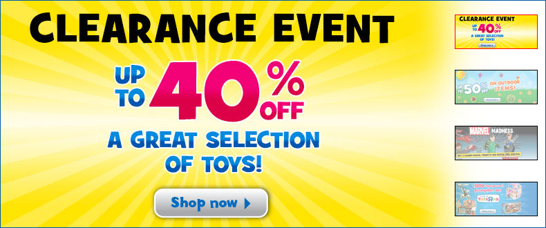 Toys R Us Clearance Event - Up to 40 Off Select Toys