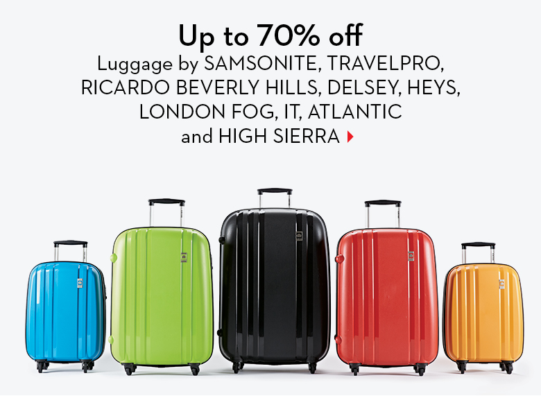 Hudson's Bay Save up to 70 Off Luggage