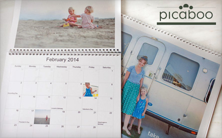 Custom Photo Calendar from Picaboo