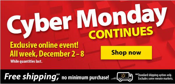 Walmart Cyber Monday Continues - Exclusive Online Event (Dec 2-8)